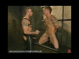 Spencer reed takes his real life partner phillip aubrey on a bdsm