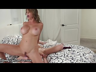 Mommysgirl Alexis fawx sits on step daughter S face