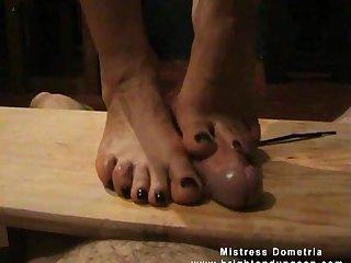 Slave footjob