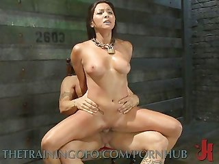 Bouncing on cock
