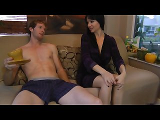 Angie relieves son S morning Wood