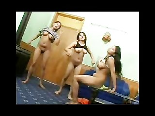 3 Funny indian girls dancing naked