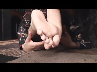 Indian girl worship white feet
