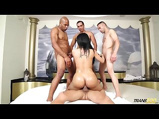 Shemale star bruna Butterfly gangbang part 3
