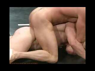 Two muscle gods fight naked for sexual domination in the end