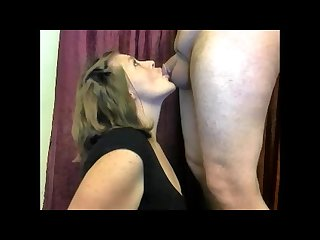 Maddie tongue teases and sucks cock and balls until she gets a huge facial