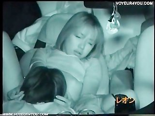 Japanese voyeur shot sex car
