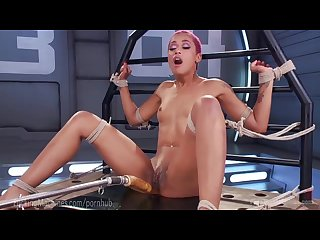 Skin diamond squirts on dildo machines