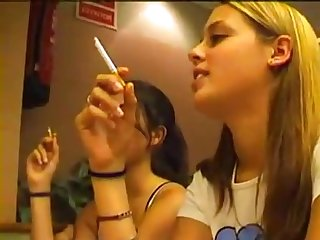 Young girls smoking