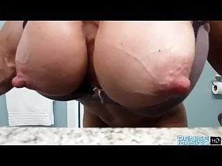 Denise masino in bathroom
