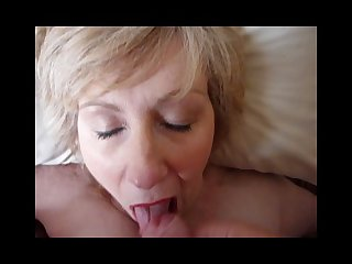Mature karen blowjob and facial cumshot