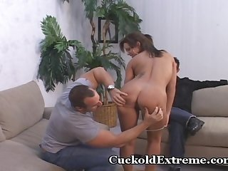 Cuckold hubby surprised by wife s orgasms