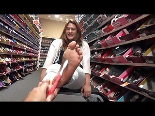Ticklish girls feet