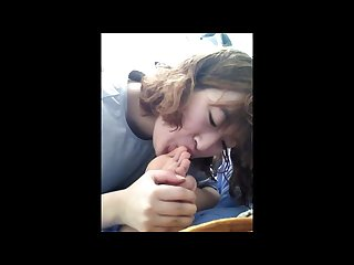Horny Korean girl grossed out while sucking on her big toe watch her face