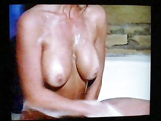 80 s milf gets dirty in bathtub