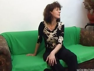 Russian mature with real hairy cunt