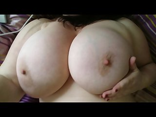 Big natural tits horny milf solo masturbation anal butt plug dildo