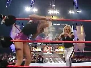 Trish stratus vs stacy keibler bra panties paddle on a pole match