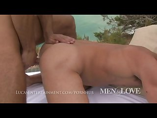 Muscular studs suck cock and fuck ass outdoors