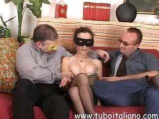 Italian amateur wife threesome bresciana