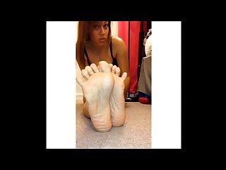 Deep wrinkled soles of sexy puertorican
