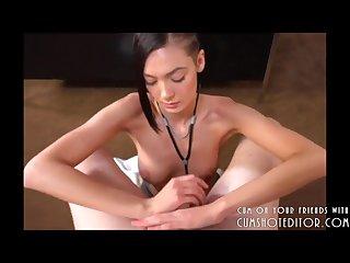 Teen nurse draining your cock pov
