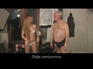 Grandpa pussylicks and pumps hot russian babe olga
