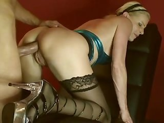 Middle aged blonde cougar getting fucked hard