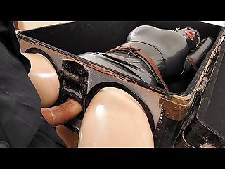 Latex goddess latex Lucy gets boxed fucked hard