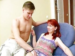 Russian mom fucking with boy