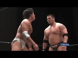 الساخنة اليابانية برو المصارعة هينو v miyatake
