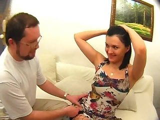 Anal creampie by daddy