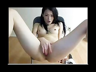 Beauty asian girl masturbates this hot girl w