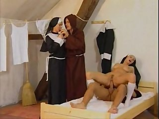 Monks and nuns foursome fucking