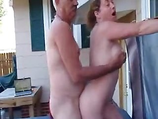 My boss fucks my wife in our outdoor spa