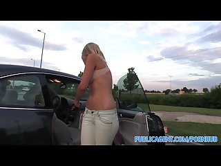 Publicagent hd sweet jennifer s pussy swallows my cock in one