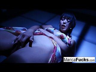Marica gets nude and masturbates