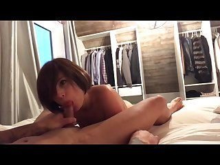 Blowjob, Smallow and Cum eating by Beautiful Cocksucker