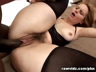 Horny milf Magda first big black cock