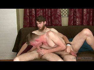 Scruffy tommy gets head and gay rides him