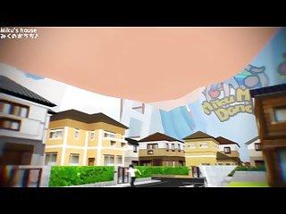 Mmd Giantess English version Miku S house