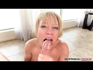 Dee Williams MILF Mom POV Suck Big Dick Blowjob Big Tits Short Hair Cumshot