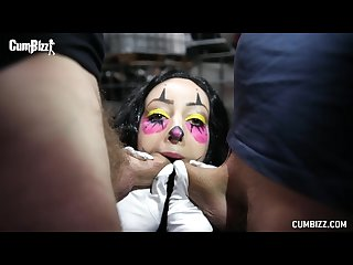Cumbizz dutch teen bukakke facial blowbang killerclown beat down halloween