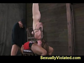 Extreme throat fucking for Nikki pt 2