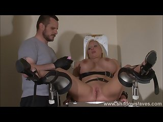 Clinic domination medical fetish of Melanie moon in pussy stabling punished