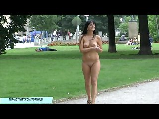 Crazy girl tara shows her pussy in public