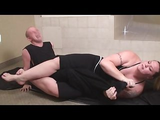 Tall big amazon anya dominate thin man