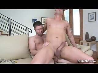 Nasty married male brad benton sucking and jumping anally