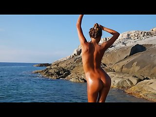 Katya clover naked beach Dancer corsica summer 2014
