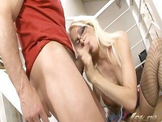 Hard anal sex with hot blonde hooker from norway